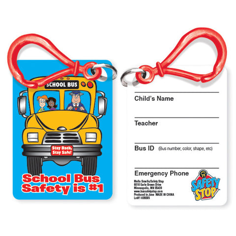 Bus Safety Writable ID tag with Clip