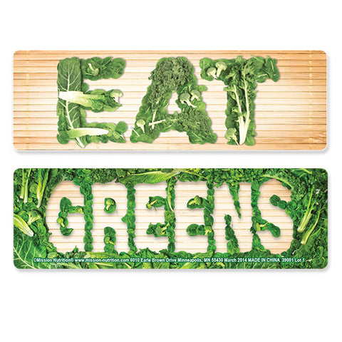 Eat Greens 3-D Flip Lenticular Bookmark