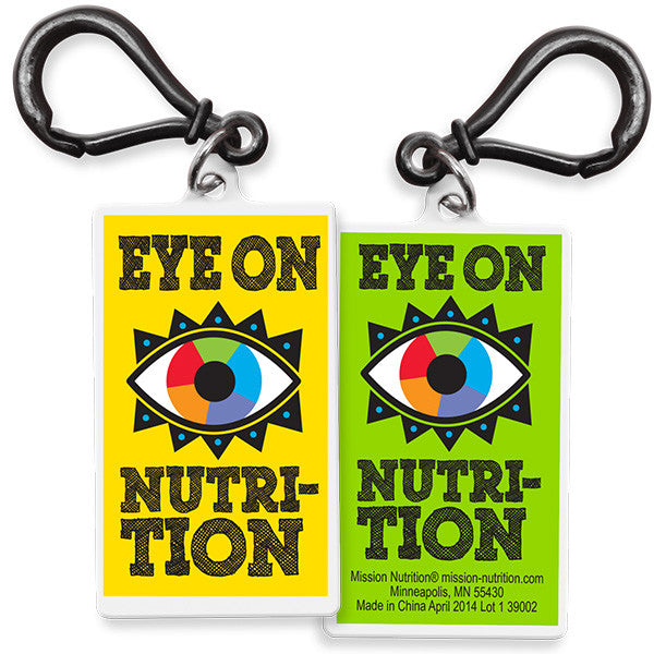 Eye on nutrition bag dangler- backpack keychain