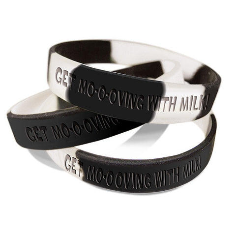 Get Mo-o-oving With Milk Silicone Wristband