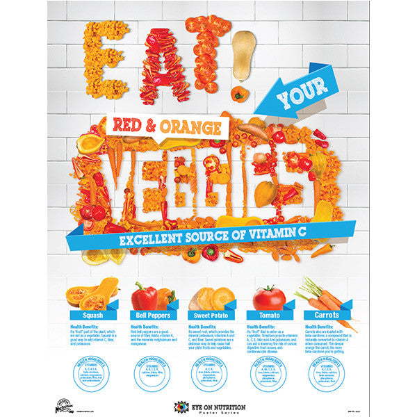 Eat Red and Orange Veggies- Nutrition Poster