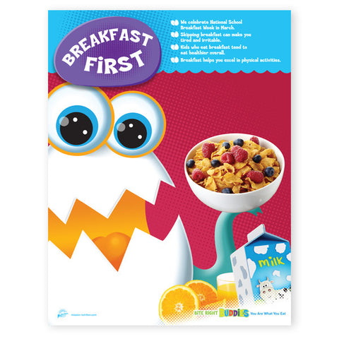 Breakfast First- Nutrition Poster