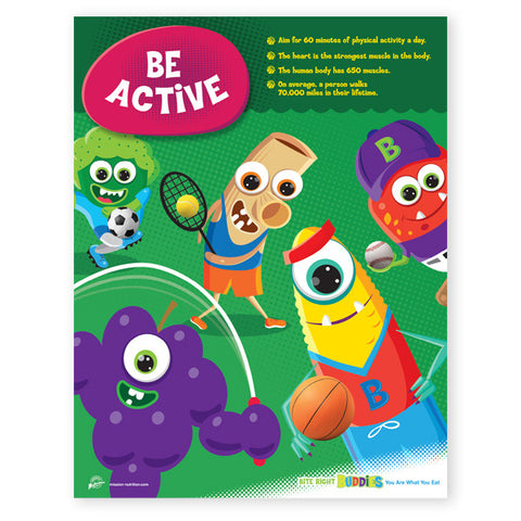 Be Active- Exercise Poster