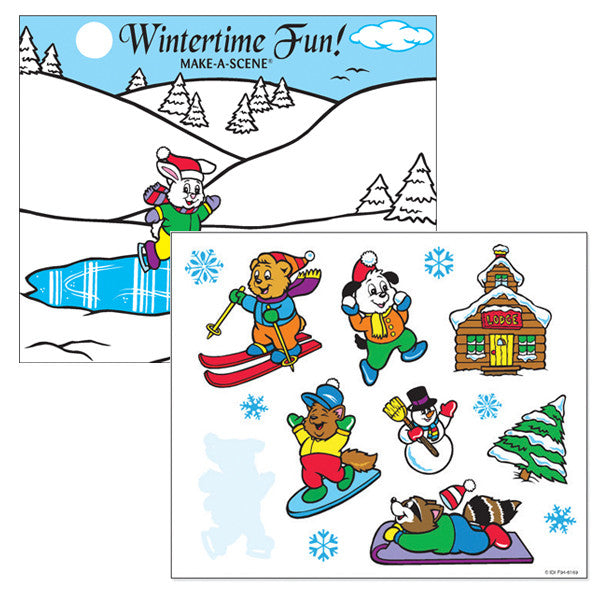 Winter Make-A-Scene Sticker