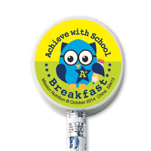 Achieve With School Breakfast Eraser Topper