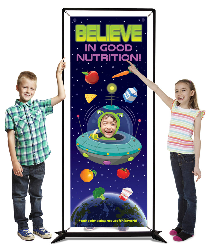 cafeteria space banner display