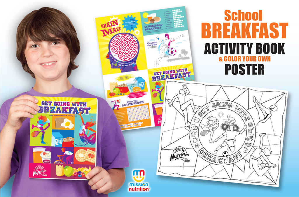 Get Going With Breakfast!  Activity Book and Coloring Poster