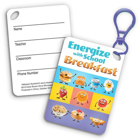 Breakfast Backpack Tags