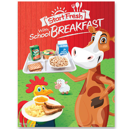 Start Fresh with Breakfast Poster