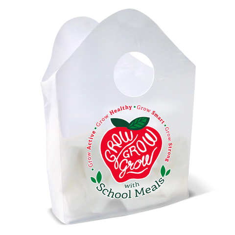 Grow, Grow with School Meals Plastic Bag
