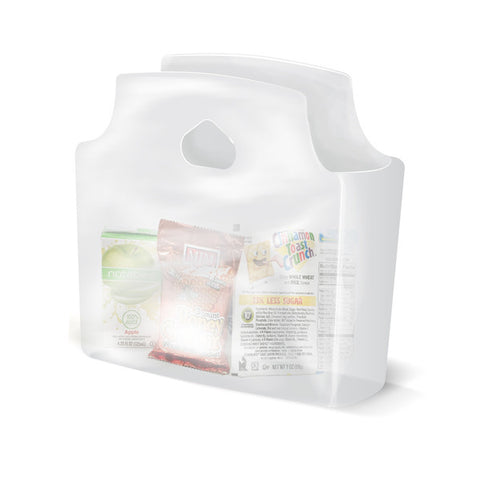 "Frosted Clear Unprinted Grab and Go Bags 11"" x 10"" x 3.5"" 500/case"