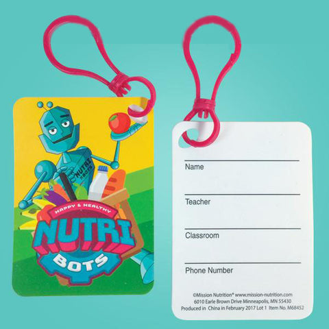Nutri Bot Writable ID Tag with Clip