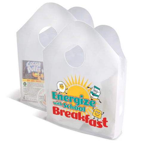 Energize with School Breakfast Plastic Bag