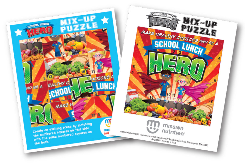 School Lunch Hero Mix-up Puzzle