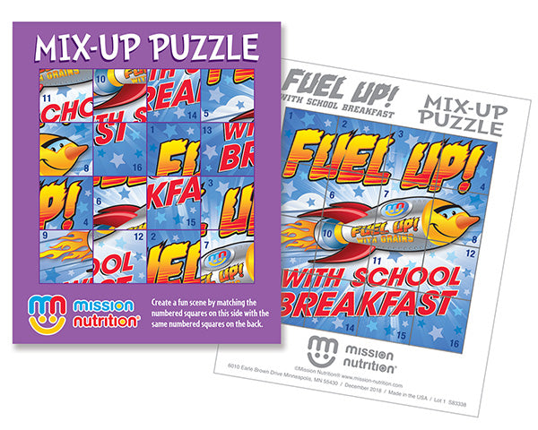 Fuel-Up! with School Breakfast Mix-Up Sticker Puzzle