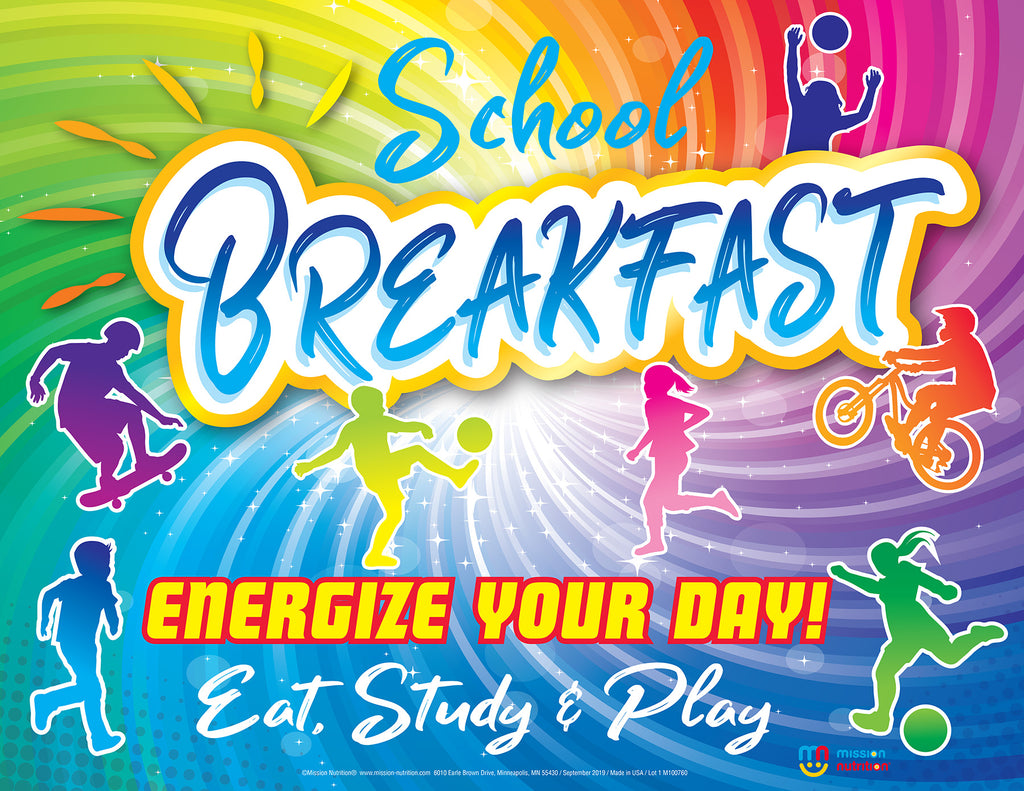 Energize Your day with School Breakfast! Poster