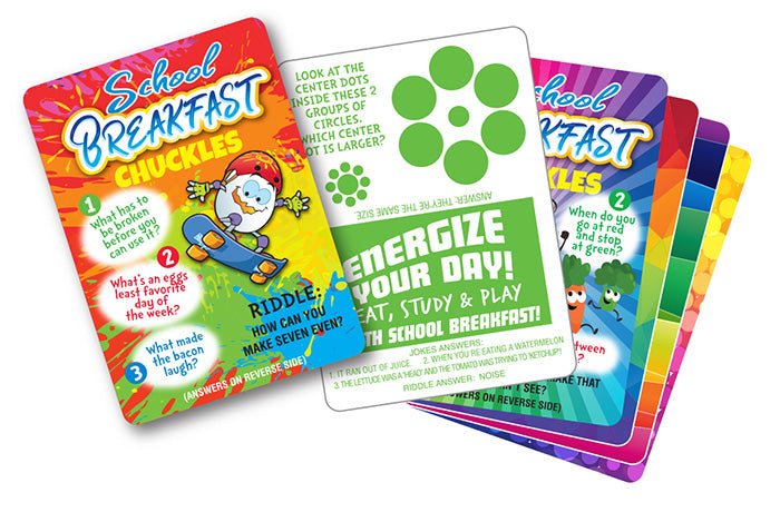 Energize Your Day Breakfast Chuckles Trading/Joke Cards
