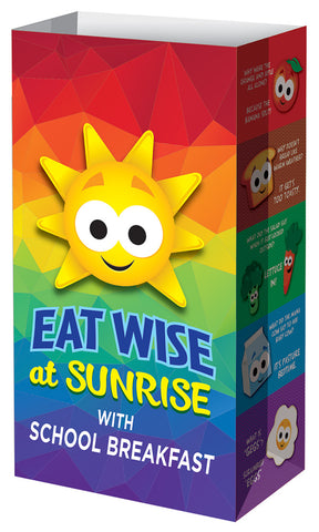 Eat Wise at Sunrise with School Breakfast! Meal Bag