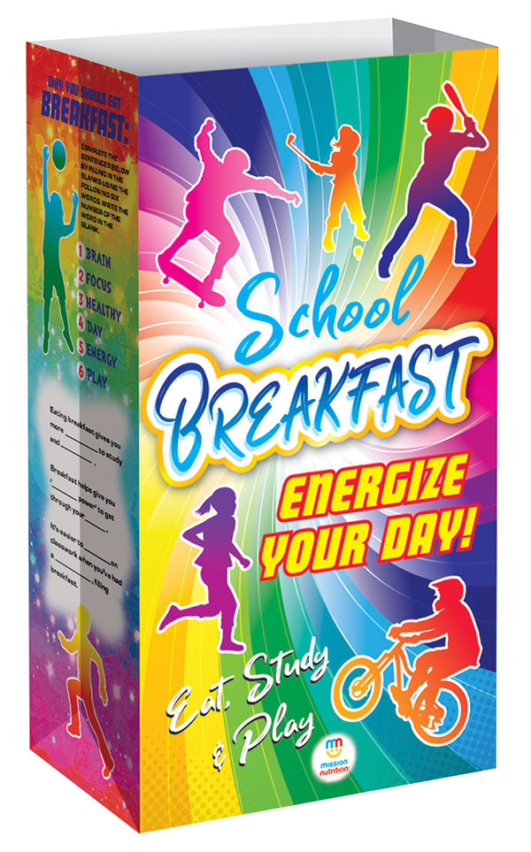Energize Your Day with School Breakfast!  Meal Bag