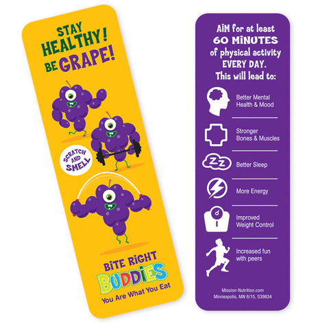 Scratch & Smell Grape Bookmark