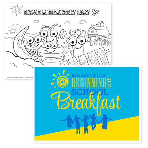Have a Healthy Day with School Breakfast Placemat