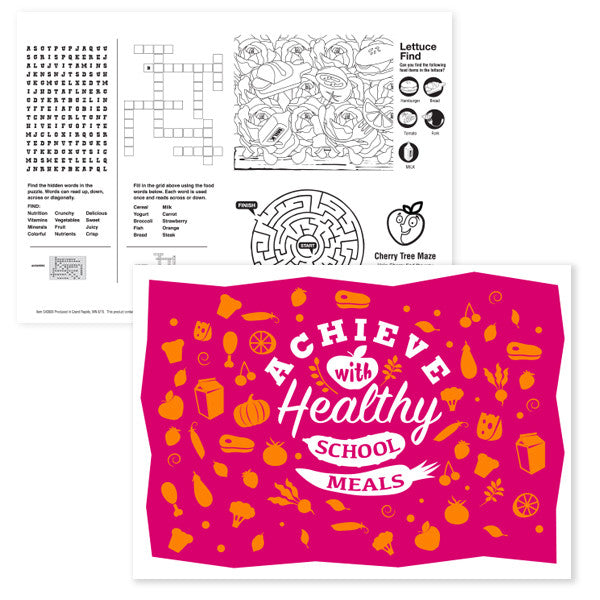 Achieve with Healthy School Lunch Placemat