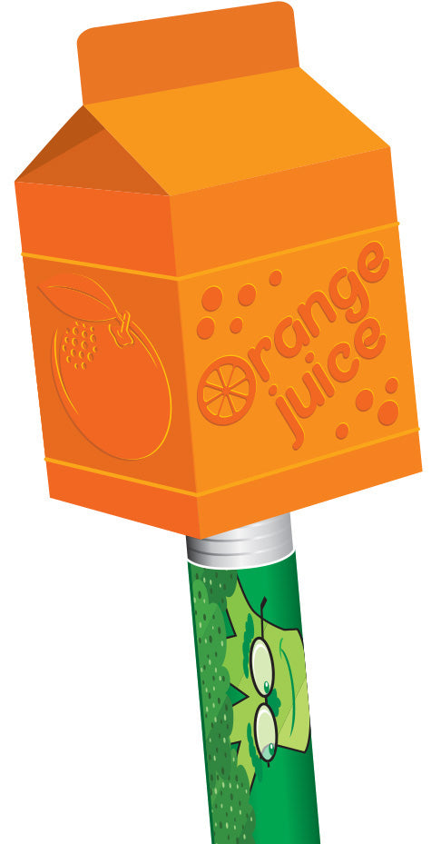 Orange Juice Breakfast Pencil Topper/Eraser