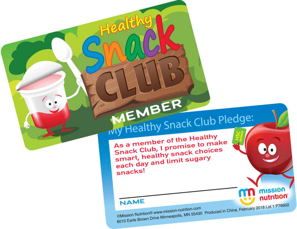 Healthy Snack Club Membership Card