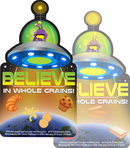 Believe in Whole Grains! 3D Bookmark
