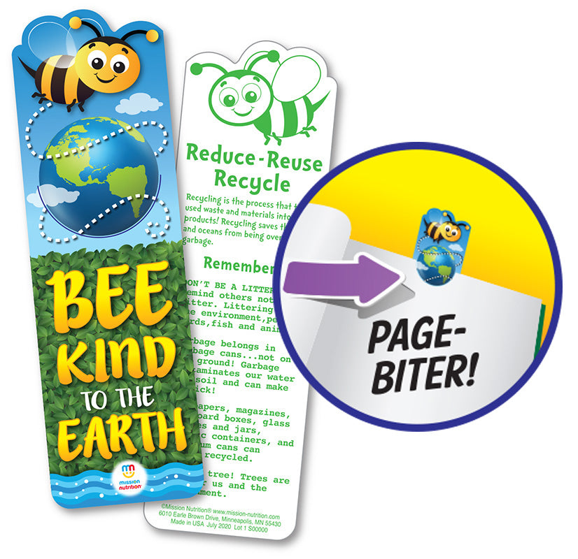 BEE KIND TO THE EARTH - BOOKMARK 100/CASE