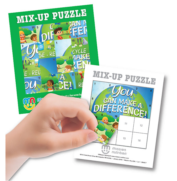 You Can Make a Difference! Mix-Up Sticker Puzzle