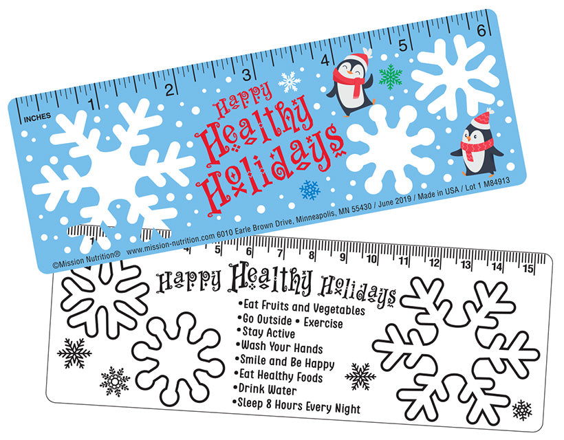 Healthy Holidays! Stencil Ruler