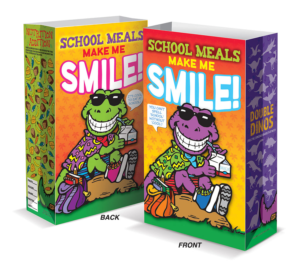School Meals Make Me Smile - Super Sack Meal Bag