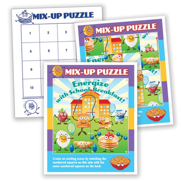Sticker Mix-Up Puzzle