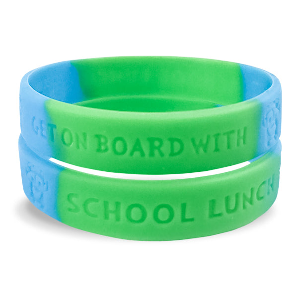 Get On Board With Lunch- Silicone Wristband