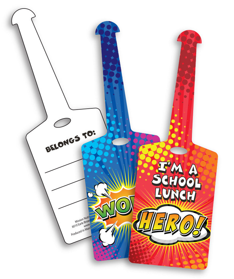 I'm A School Lunch Hero Backpack I.D. Tags