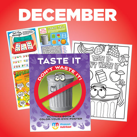 """Don't Waste Food"" Color-Your-Own Poster & Activity Book"