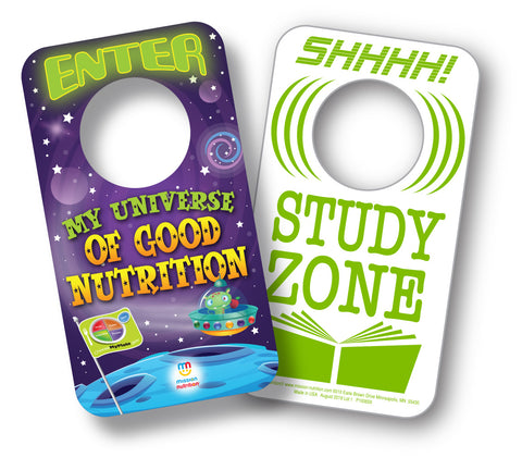 School Meals are Out of This World!  Door Hanger