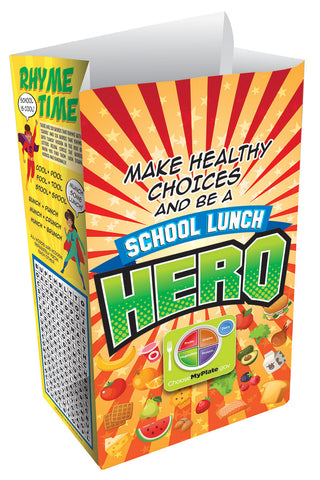 School Lunch Hero Meal Bag - Paper