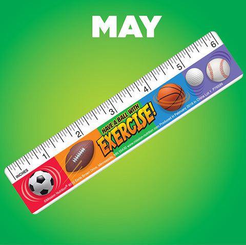 Exercise-Theme Plastic Ruler
