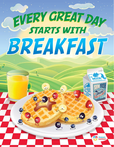 Every Great Day Starts With Breakfast- Poster