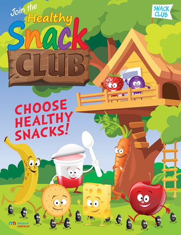 nack club choose healthy snacks- Poster