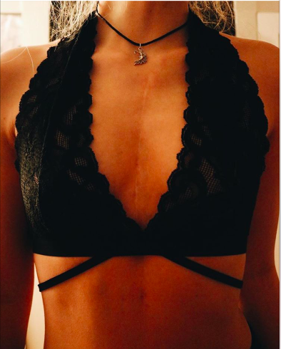 Lace Strappy Halter Bralette