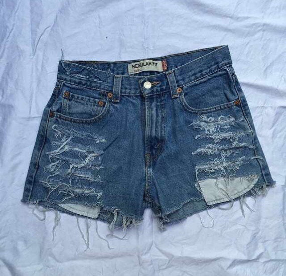 Sale: Ashley distressed High waist shorts