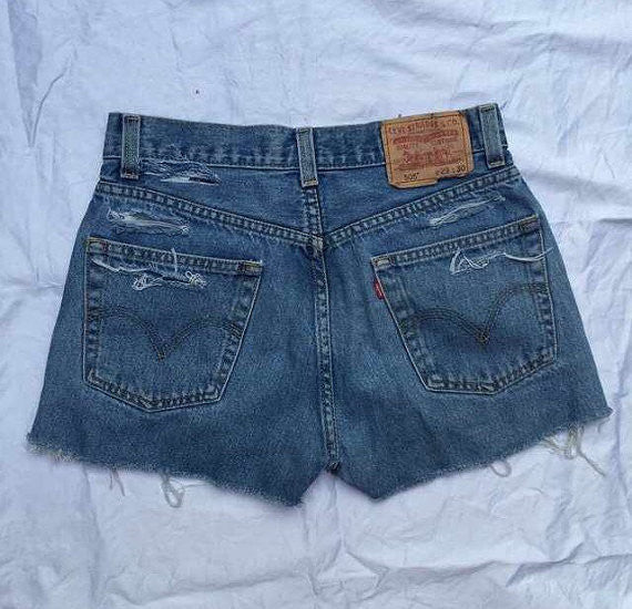 Ashley Distressed High waist shorts