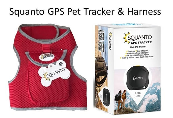 Squanto No-Pull Dog harness & SQ-001 Mini GPS Tracker
