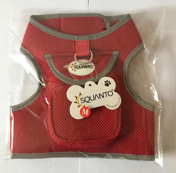 Squanto No-Pull Dog harness with handy pocket - a perfect fit for a GPS tracker! SQ-030