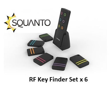 Squanto RF Key Finder with 6 tiles - SQ-026
