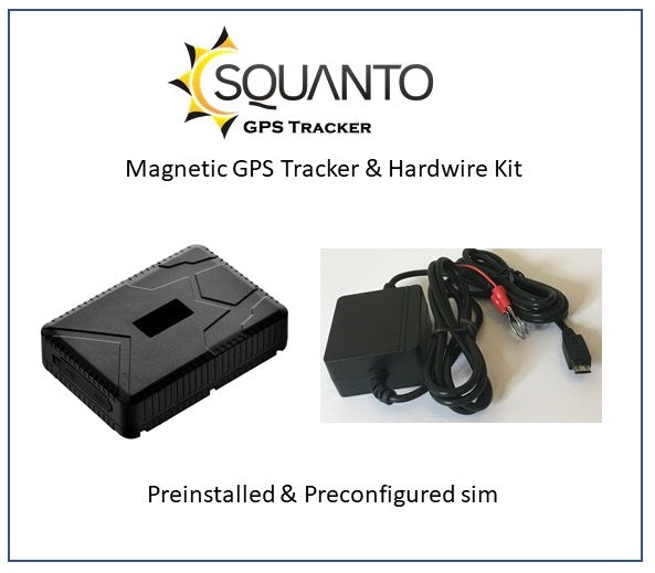 Magnetic GPS Tracker SQ-015 & Vehicle Hardwire Kit