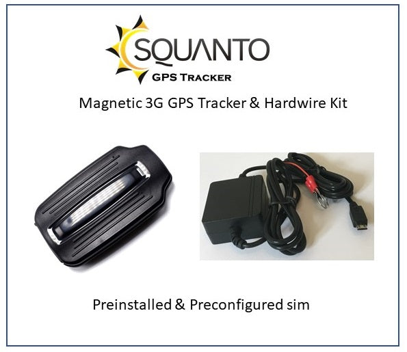 3G Magnetic GPS Vehicle Trailer Caravan Motorhome Tracker SQ-025 with Battery Hardwire Kit